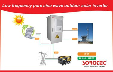 Outdoor Solar Panel Power System Low Frequency IP55 for Telecom